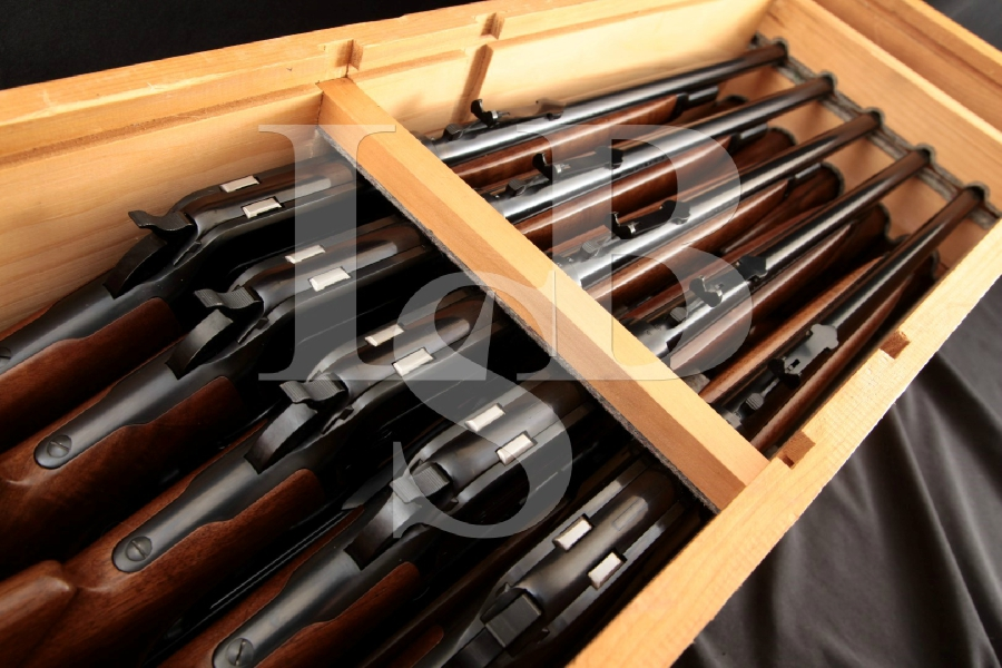 """10x Consecutively Numbered Browning Model 71 Limited Edition Grade I Carbines, Blue 20"""" Lever Action Rifles in Factory Crate, MFD 1987"""