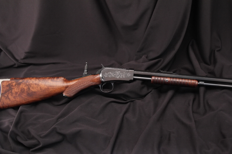 Engraved Deluxe Winchester Model 90, 1890 .22 LR Pump Action Rifle - C&R OK