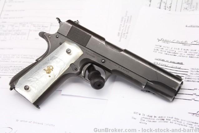 1942 U.S. WWII Colt Model 1911A1 Documented Bringback