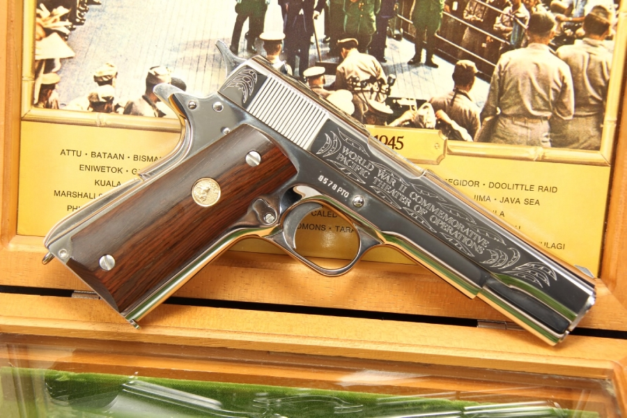 Colt 1911 WWII Pacific Theater Commemorative .45 ACP 1911-A1 - In The Box - C&R OK