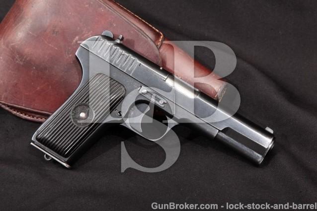 """1941 Russian Tula TT-33 Tokarev Pistol & Holster Blue 4 1/2"""" Semi-Auto Pistol 7.62mm, TT33 C&R"""