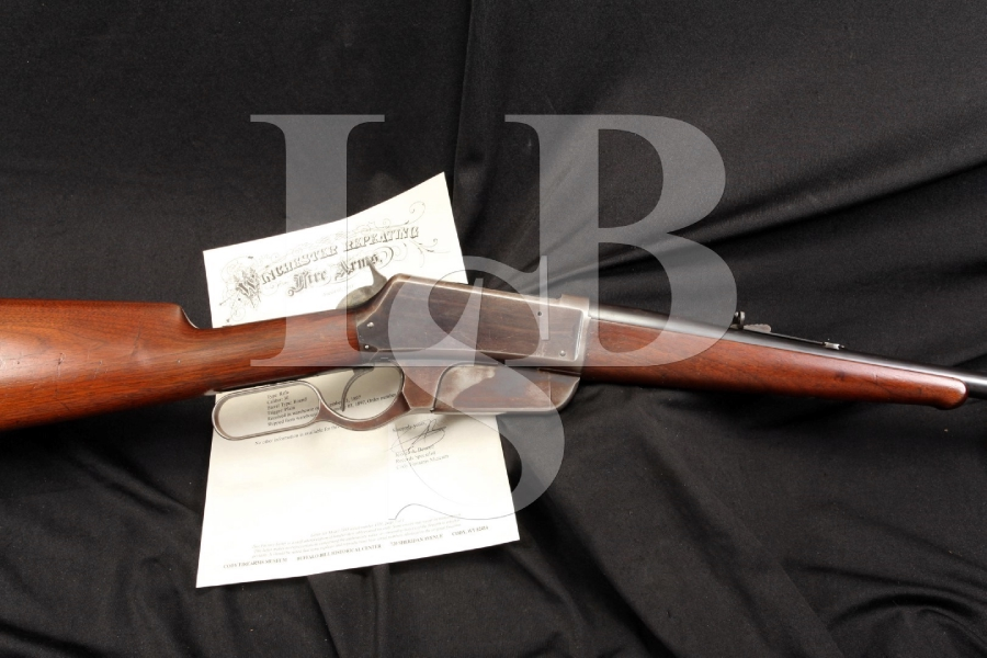 1st Model Flat Side Winchester Model 1895 .30 US .30-40 Krag Lever Action Rifle with Letter