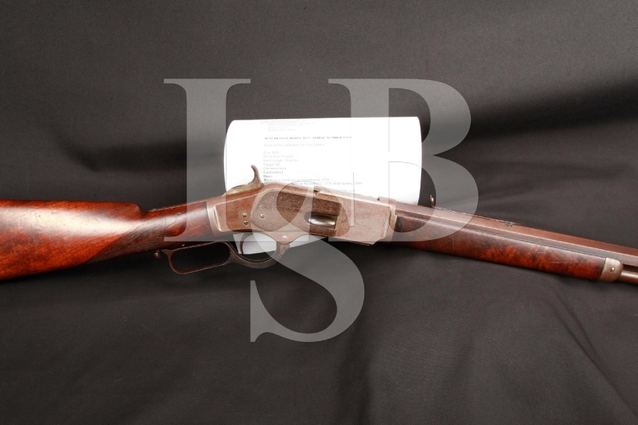 1st Model Winchester 1873 '73 Lever Action Rifle, Factory Special Order: Heavy Barrel, 28 INCH Full Length Tube, Fancy Stock & Cody Letter 1878