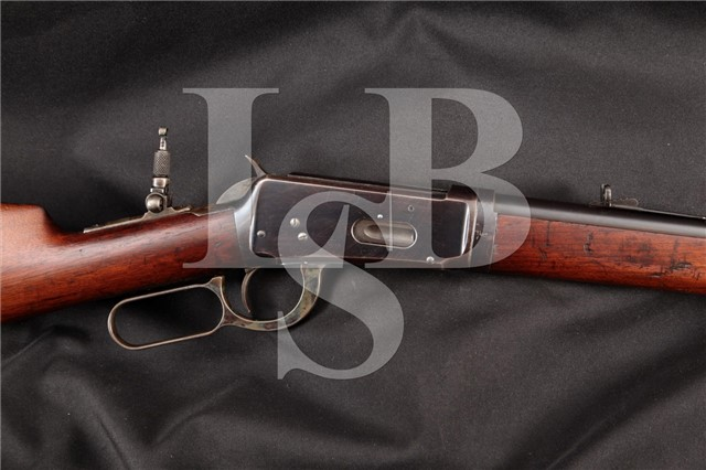 """3rd Year! Winchester 1894 Takedown .38-55 26"""" Blue Lever Action Rifle & Lyman Peep, MFD 1896 Antique"""