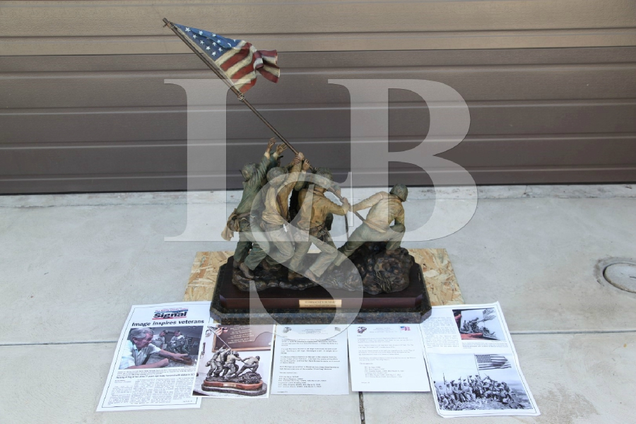90 lb. Bronze Statue of the Iwo Jima Flag Raising by David Venell 1 of 5