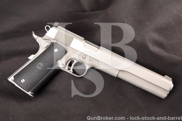 "AMT Hardballer Longslide 7"" Stainless .45 ACP RARE Semi Automatic Long Slide Pistol, CA PPT OK"