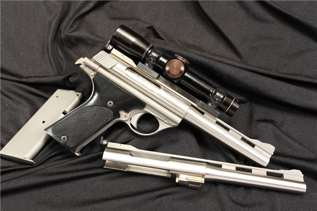AMT / TDE 180 & 160 .44 Auto Mag AMP & .357 AMP Stainless Semi Automatic Pistol & Scope - C&R OK
