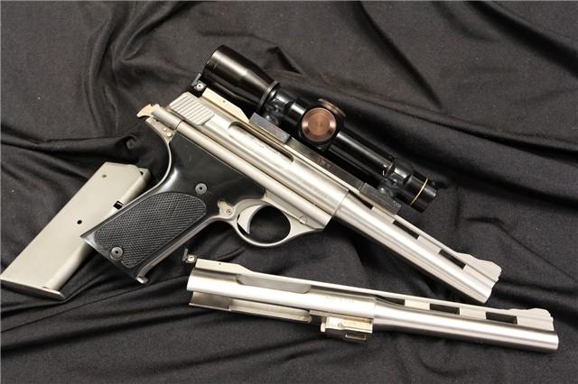 AMT / TDE 180 & 160 .44 Auto Mag AMP & .357 AMP Stainless Semi Automatic Pistol & Scope - C&R OK