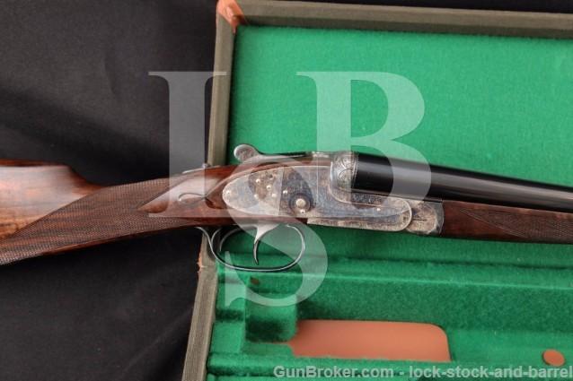 AYA Aguirre y Aranzabal Model 1 Sidelock 16 Ga SXS Side by Side Double Barrel Shotgun, MFD 2011