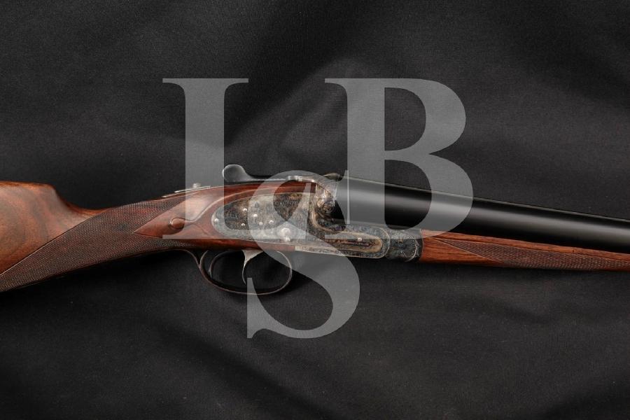 "Aguirre & Aranzabal AYA Model No. 1 (Number One), Engraved Case Colored & Blued 28"" Side by Side SxS Sidelock Shotgun, MFD 1983"