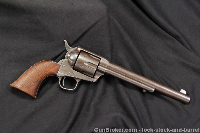 Matching Ainsworth Inspected US Cavalry Colt 1873 .45 Single Action Army SAA SN 8121 - 1874 Antique