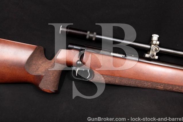"""Anschutz Model Match 54, Blue 27"""" Single Shot .22 Bolt Action Rifle & R.A. Litschert Spot-Shot Scope"""