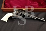 "Armi San Marco Colt 1873 End of Trail Champion, Helfrecht / Sear's Colt Engraved & Gold 7 1/2"" Single Action Army Revolver & Case, MFD 1995"