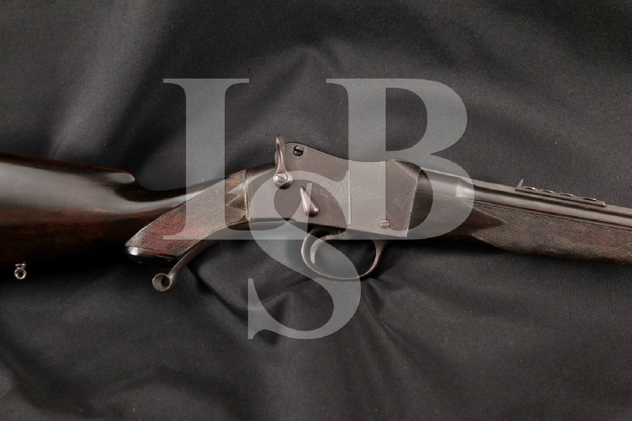 Army & Navy Co-operative Society Martini Falling Block Sporting Model, Blue 24 1/4 Single Shot Lever Actuated Rifle, MFD 1891 Antique