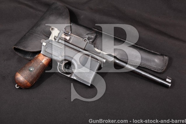 Austrian Mauser C96 Brromhandle 1896 .30 Mauser Wartime Commercial Semi-Auto Pistol MD 1916-17 C&R
