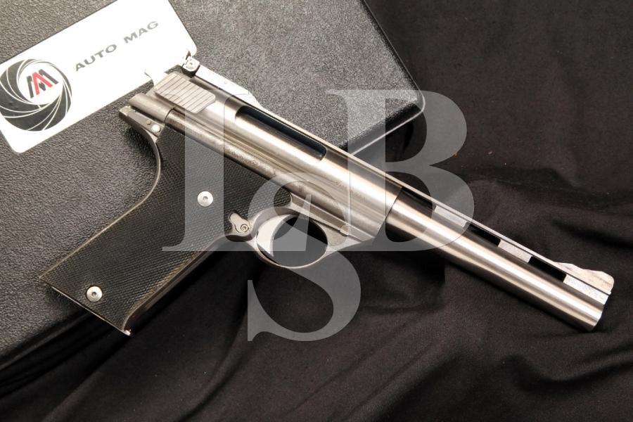 AutoMag Model 180 .44 AMP Auto Mag Semi Auto Pistol Dirty Harry & Case C&R