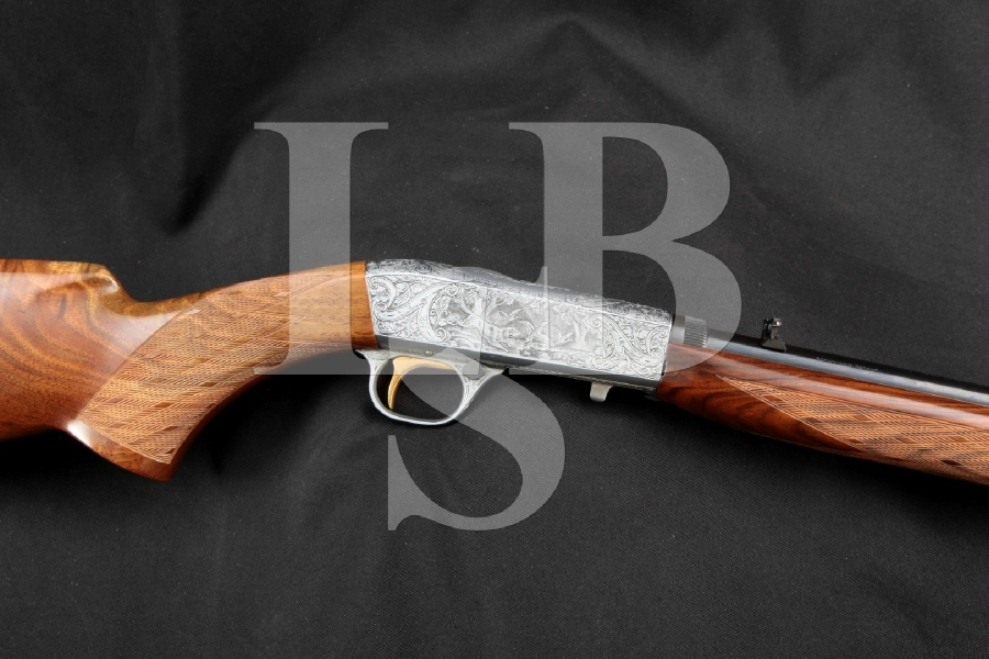Belgian Browning Model SA-22 SA22 Grade III L.A. Campo Engraved, Blue & 'French Gray' Semi-Automatic Takedown Rifle, MFD 1968