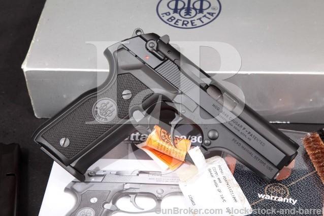 """Beretta 8040 Cougar F, Black 3.6"""" Pistol & Box 8040F SA/DA Semi-Auto, MFD 1999 .40 S&W"""