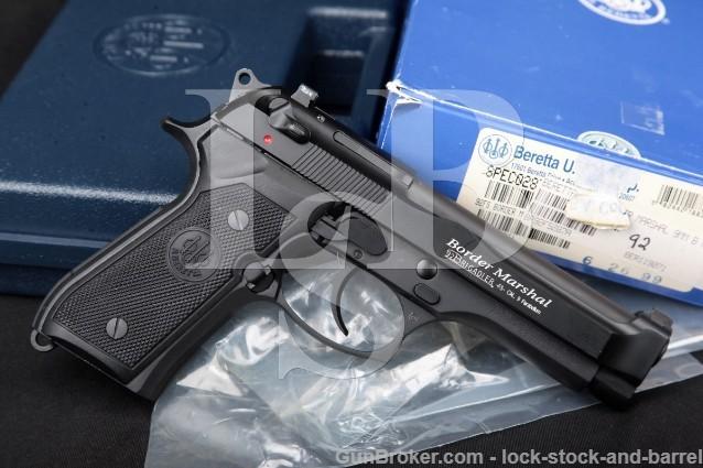 Beretta USA 92 Brigadier FS Border Marshal 9mm Bruniton & Black 4.7 SA DA Semi-Auto Pistol & Box