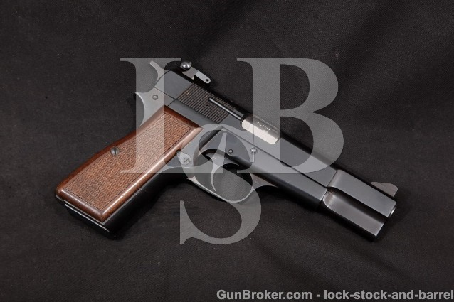"Browning Belgian FN High Power Hi-Power P35 9mm Blue 4 5/8"" SA Semi-Automatic Pistol, MFD 1973"
