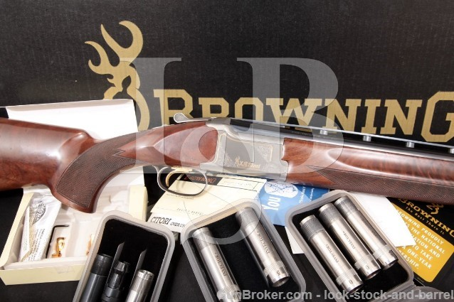 """Browning Citori XS Skeet Blue, Silver & Gold 28"""" Ported 12 Gauge O/U Over Under Shotgun MFD 2006"""