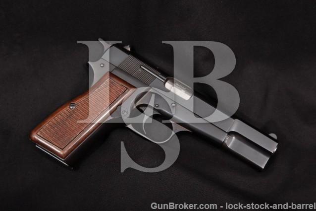 "Browning FN Belgian High Hi-Power P35 9mm Luger Blue 4 5/8"" Semi-Auto Pistol, MFD 1972 NO CA"