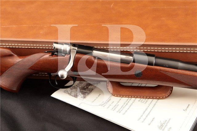 Browning Fabrique Nationale FN High-Power 375 H&H Safari Grade, Factory Letter & Case, MFD 1960
