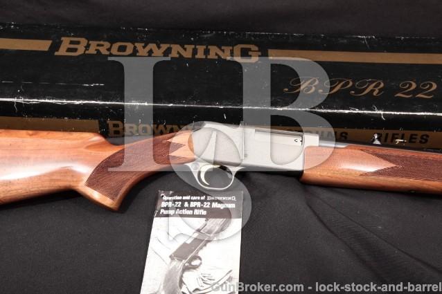 "Browning Miroku BPR-22 Magnum Grade II Engraved .22 WMRF Blue 20 1/4"" Pump/Slide Rifle & Box, 1980"