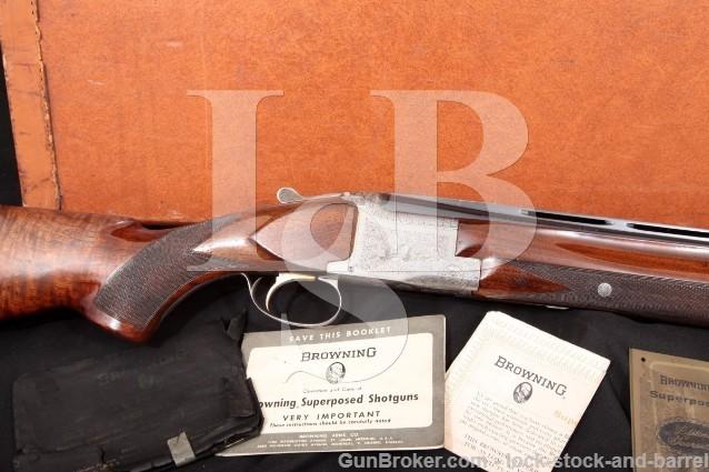"Browning Superposed Pigeon Grade 30"" Vent-Rib SST O/U Double Barrel Shotgun & Case 1965 C&R 12 Gauge"