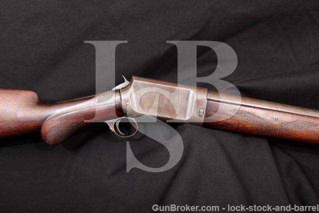 "Burgess Gun Co. Slide Action, Blue 32"" 12 Gauge Take-Down Wrist Grip Pump Shotgun 1892-98 Antique"