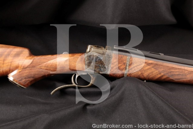 Butch Searcy & Co. BS1 Stalking Takedown Model Exhibition Wood, Single Shot .375 H&H Magnum Rifle