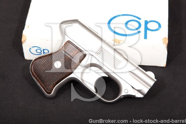 COP Inc. Torrance SS-1 Compact Off-Duty Police C.O.P. Stainless 4-Barrel Derringer & Box 357 mag