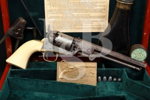 Cased Colt Model 1851 Navy .36 Percussion Civil War Revolver, MFD 1863, Antique