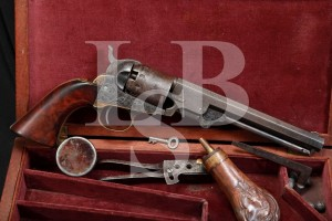 Cased Manhattan Arms .36 Cal Series III Percussion Navy Revolver, Antique