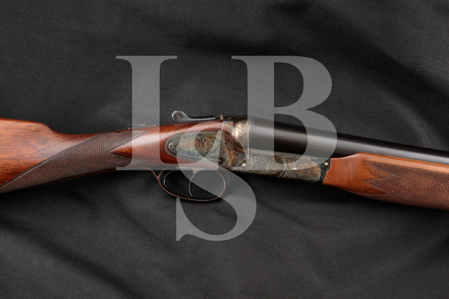 "Cogswell & Harrison Sandhurst, Engraved Blue & Case Colored 28"" Side by Side SxS Boxlock Shotgun MFD 1954-1955 C&R"