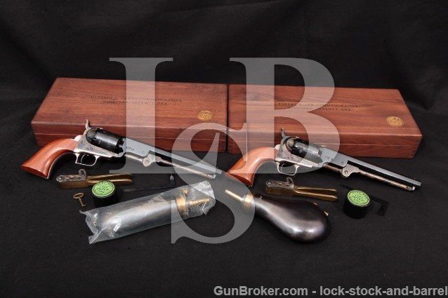 Colt 1851 R.E. Lee & U.S. Grant C-Series Revolvers Percussion Guns, Cases & More, 1971 36 Cal Antique