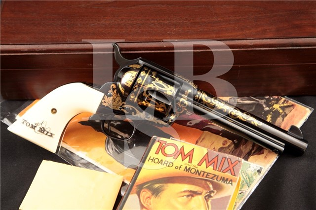 Colt 1873 Tom Mix Commemorative Single Action Army Cased 1 of 50 SAA Revolver, #16! MFD 1995