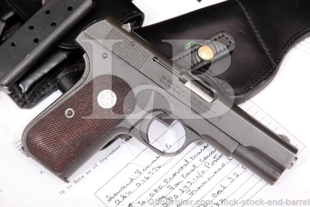 Colt 1903 General Officer Pistol BG Francis Howard U.S. Property .32 ACP Pistol & Holster, 1944 C&R