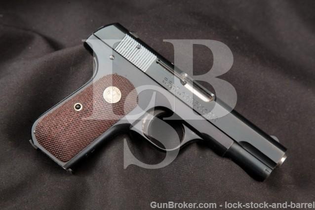 "Colt 1903 Type IV Pocket Hammerless, Blue 3 3/4"" Pre-War Semi-Automatic Pistol, MFD 1936 C&R"