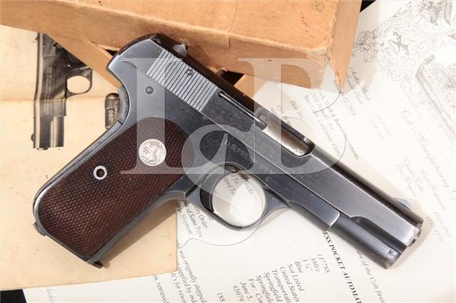 Colt 1908 US Property Pocket Hammerless .380 ACP Pistol Shipped 6/5/1945 Commanding Officer & BOX