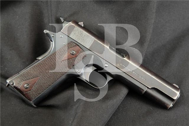 "Colt 1911 Government Model U.S. Marked Blue 5"" .45 Semi-Automatic Pistol MFD April 12, 1915 WWI C&R"