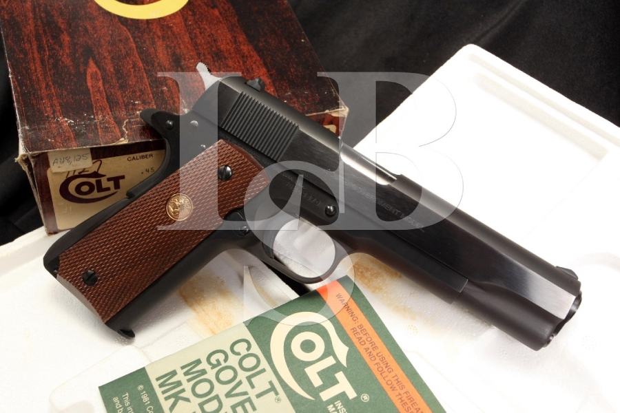 Colt 1911 MK IV Series 70 .45 ACP Government Model Semi Automatic Pistol & Box