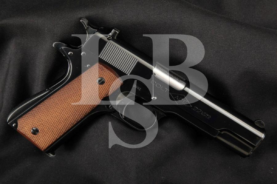 "Colt 1911 Model ACE .22 Match, Pre-War, Restored Blue 4 ¾"" SA Semi-Automatic Pistol, MFD 1931 C&R"