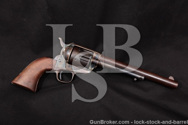 Colt 1st Gen 1st Year Calvary Single Action Army US Marked SAA Revolver, 1873 Antique .45 Colt