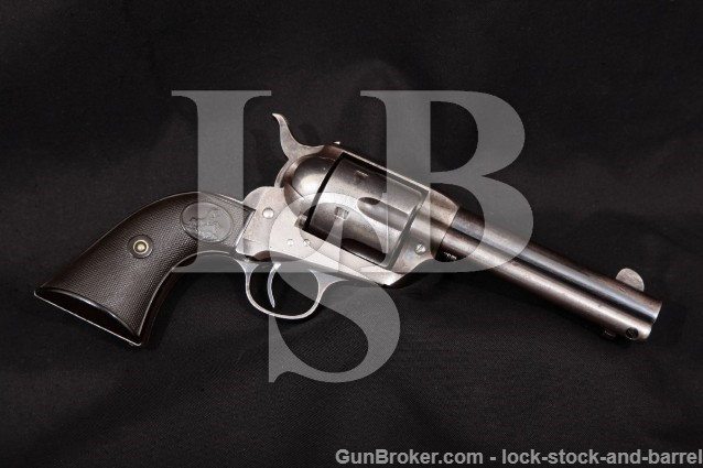 "Colt 1st Gen Early Smokeless SAA Army 4 3/4"" C&R Blue & Case Single Action Revolver, 1901 38-40 Win"