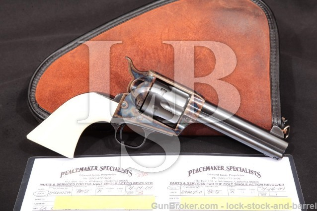 "Colt 3rd Gen Single Action Army SAA Blue 4 3/4"" Peacemaker Specialists Custom Revolver, 1977 .45"