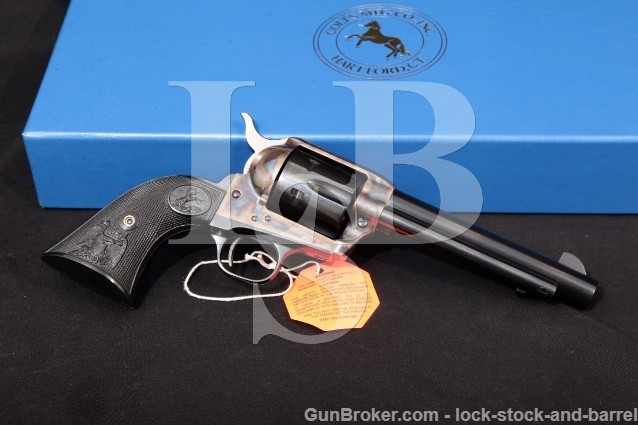 "Colt 3rd Gen Single Action Army SAA, Blue & Case 5 1/2"" Revolver & Box, MFD 2004 .45 Long Colt LC"