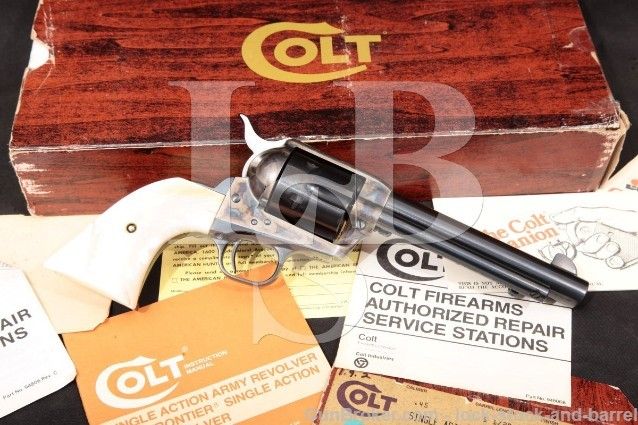 "Colt 3rd Gen Single Action Army SAA, Blue & Case 6-Shot 5 1/2"" Revolver & Box, MFD 1981 .45 Colt"
