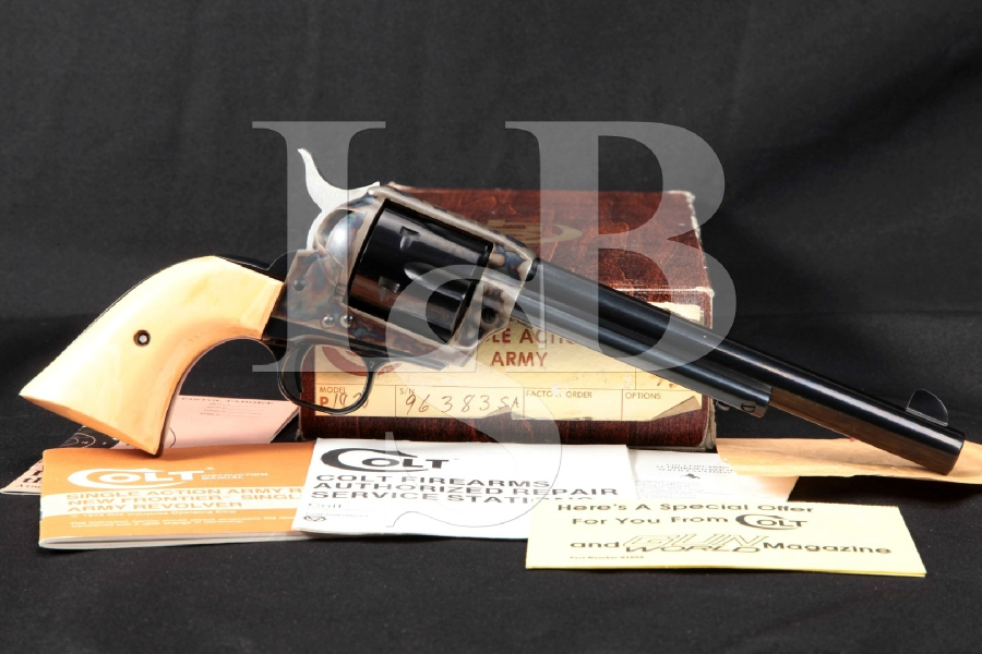 Colt 3rd Third Generation SAA, Blue & Case Colored Single Action Army Revolver & Box, MFD 1978