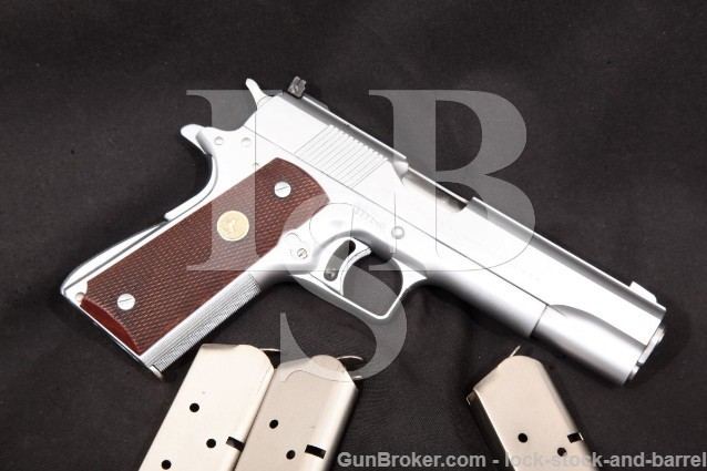 Colt A.D. Swenson Custom Gold Cup National Match Chrome Semi-Automatic Pistol, MFD 1959 C&R .45 ACP